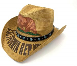 To look cooler and fancier, let's wear this California cowboy hat!