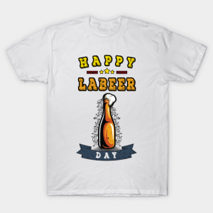 white Happy Labeer as Labor Day shirts