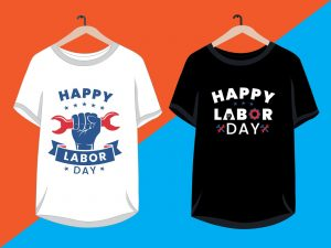 Black and white Happy Labor Day Shirts