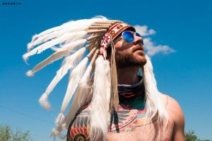 Look cooler with native American headdress t shirt