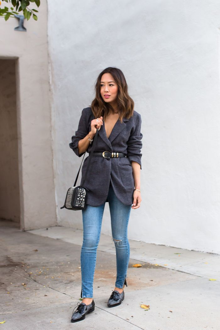 Belted Jacket and Skinny Jeans