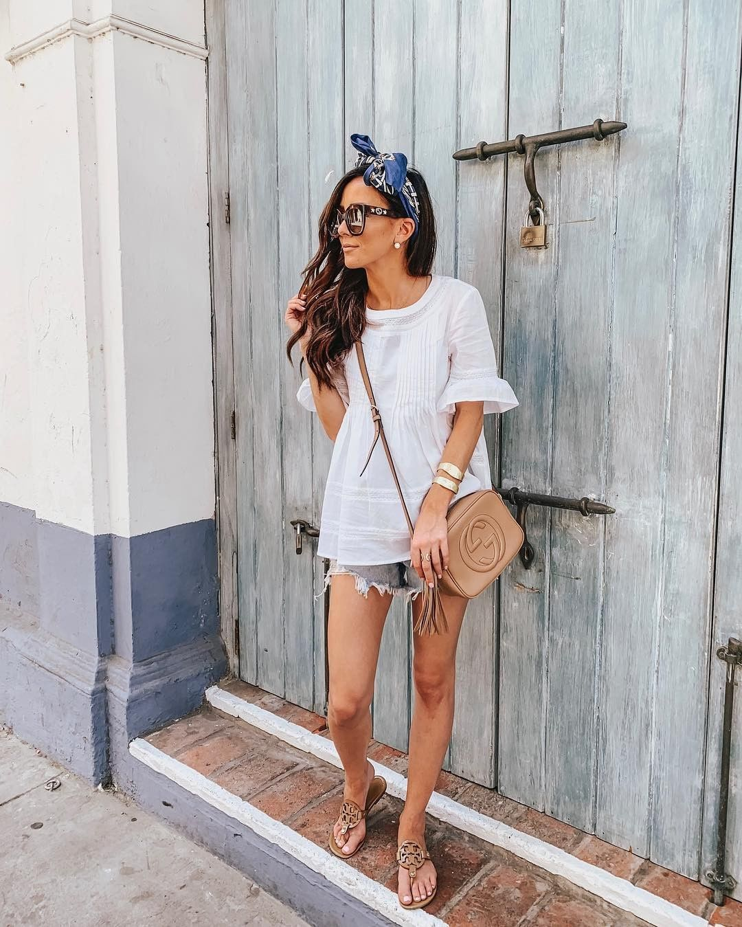 Lace Top And Denim Short