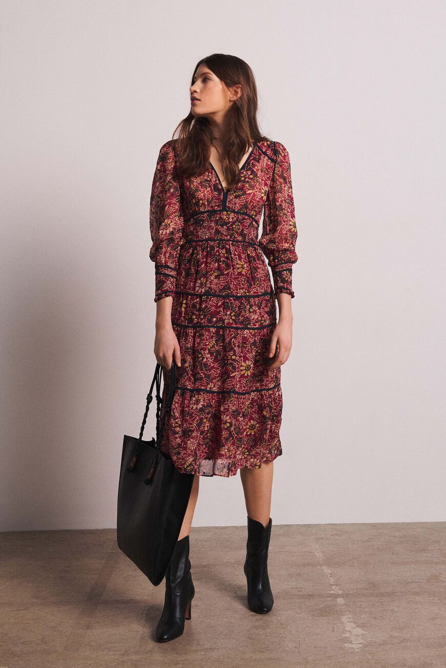 Midi Dress Is Perfect For A Fall Day