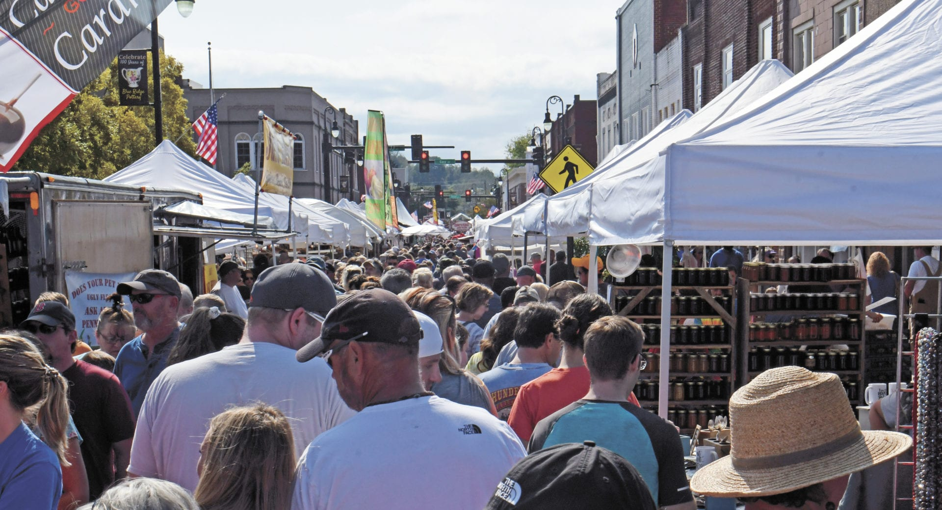 The festival is held across a 5 block section of Downtown Erwin