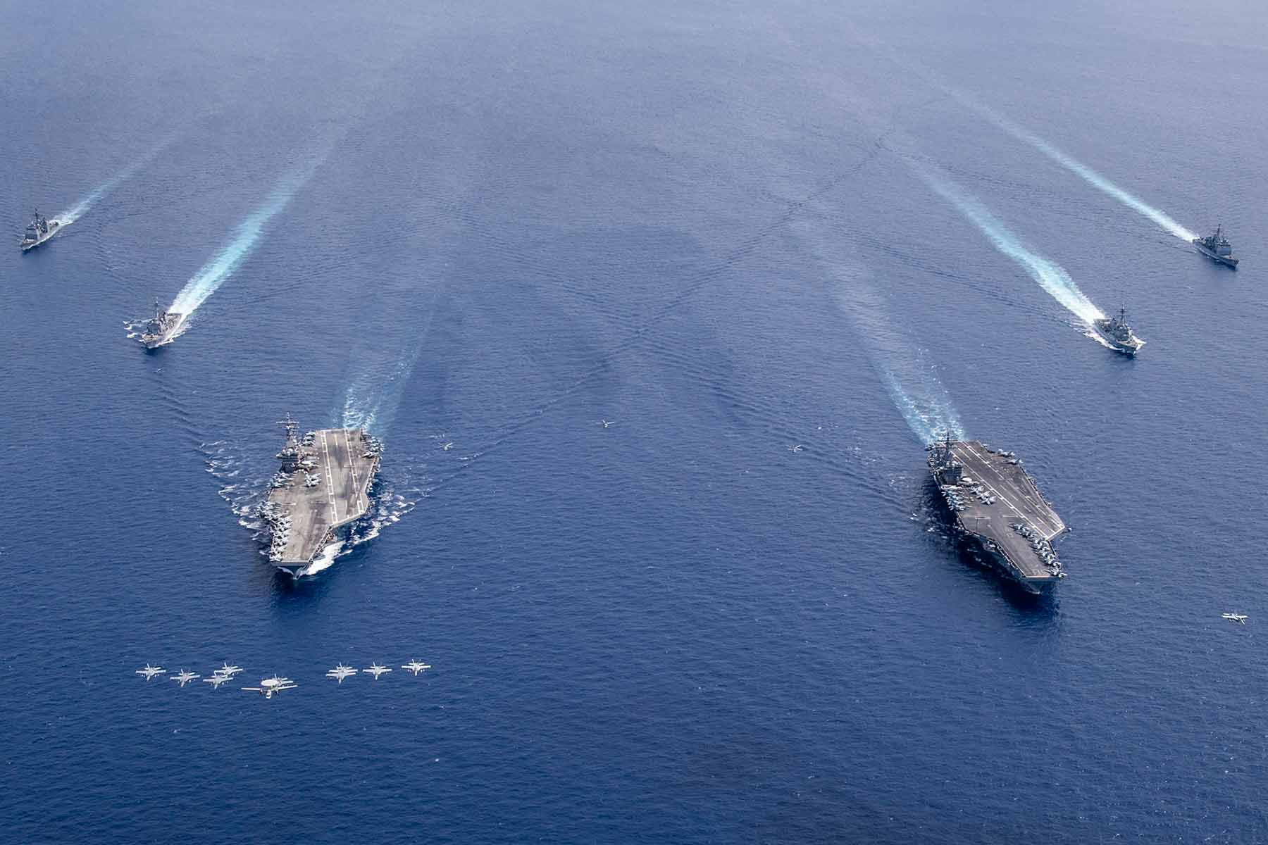 US Navy Aircraft on the sea