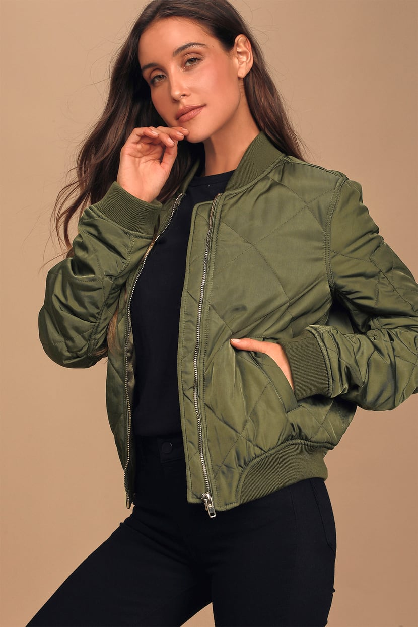 Bomber jackets are a must for this fall