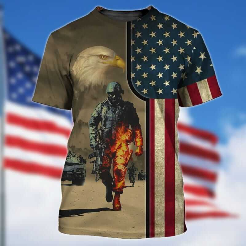 The best veteran t shirts with American flag