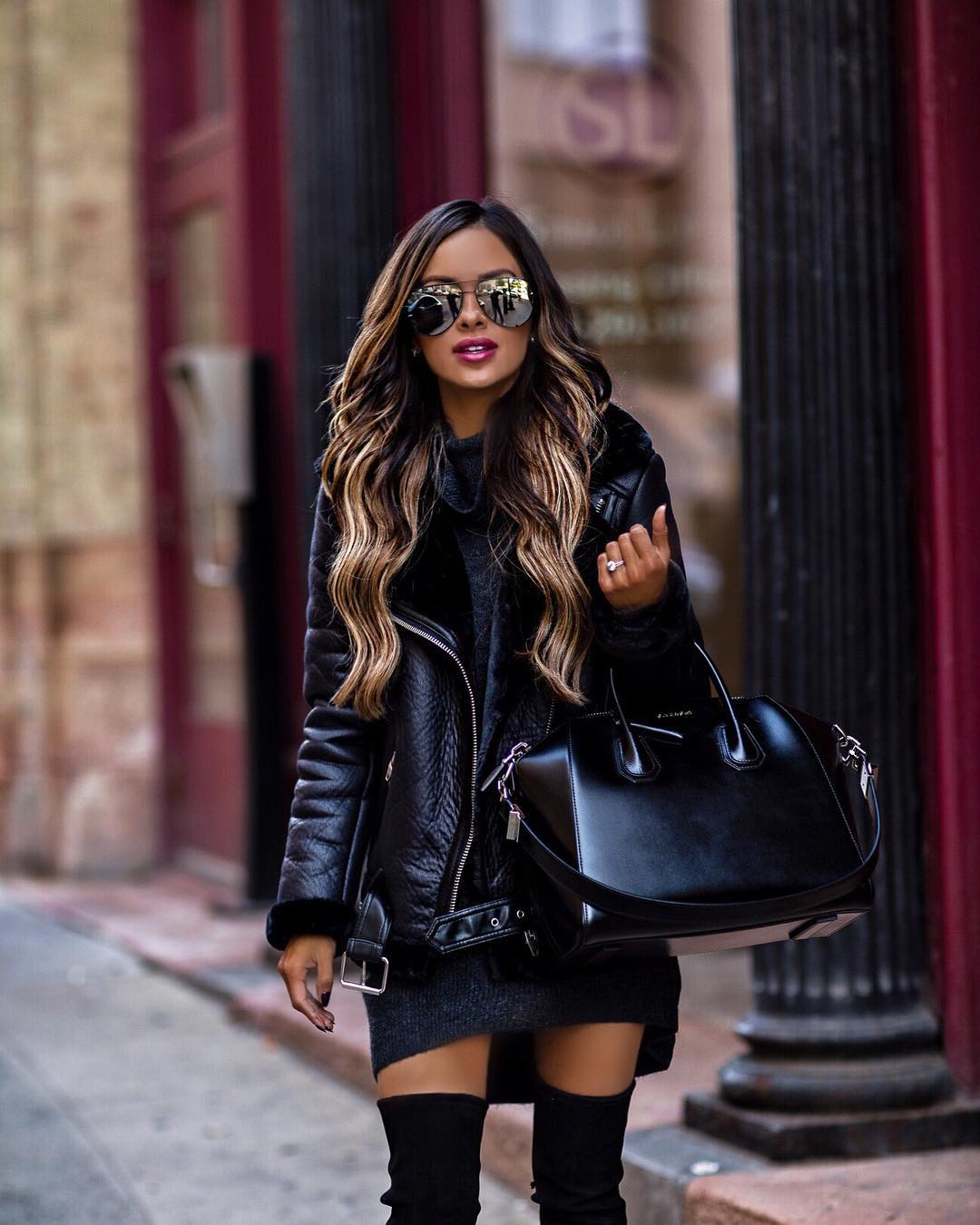 A leather jacket is a classic and alway-on-trend staple