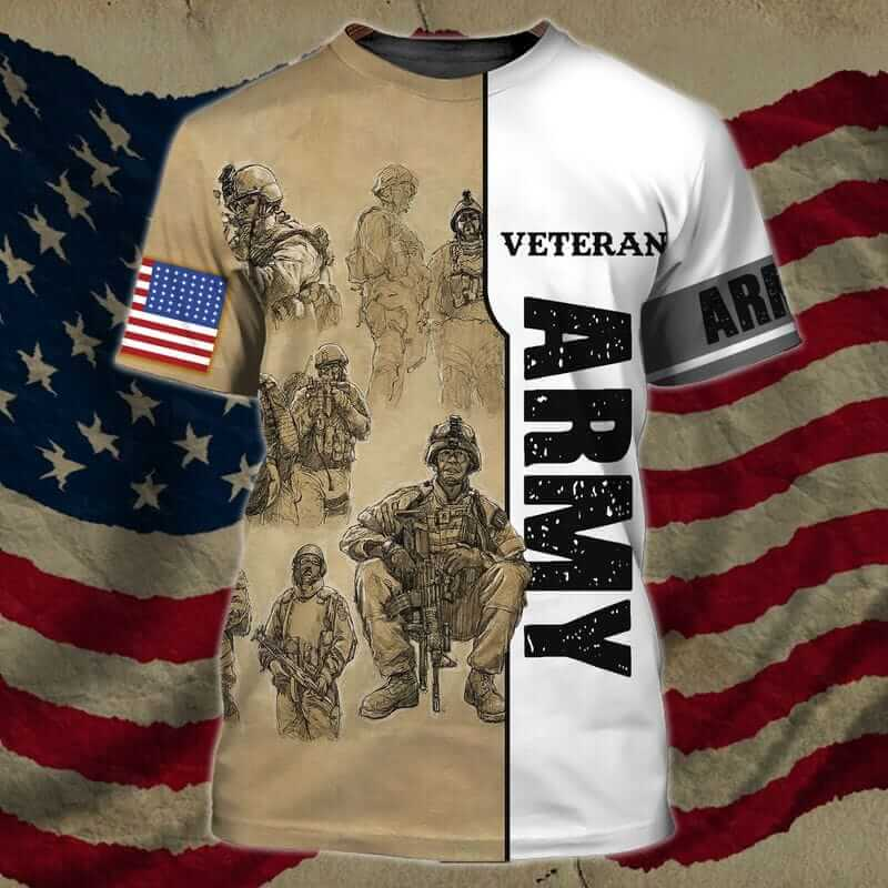 The best my dad is a veteran shirt