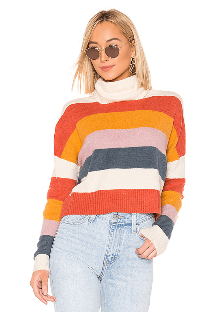A bold sweater for a cool fall day